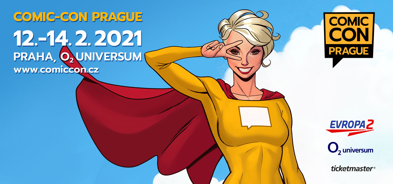 The second year of Comic-Con Prague will take place on 12th-14th February 2021 in the Prague's O2 universum