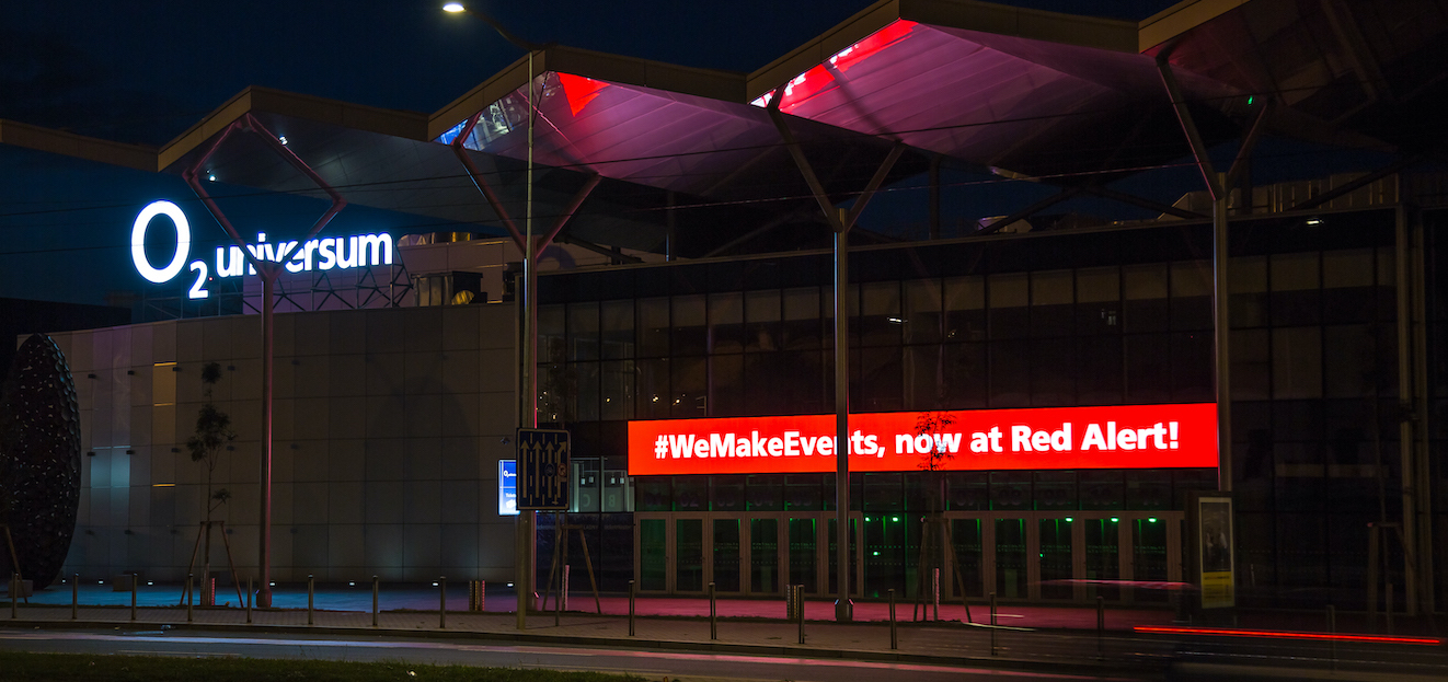 O2 arena and O2 universum joined global #WeMakeEvents initiative