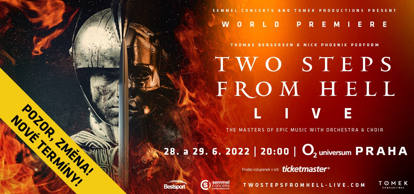 Both Two Steps From Hell Live concerts will take place on new dates, June 28th and 29th, 2022