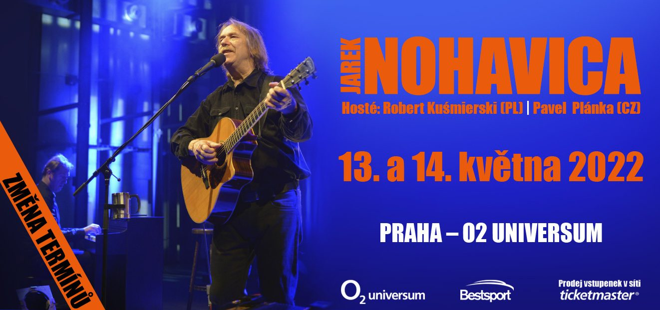 Both Jarek Nohavica concerts will take place on new dates, May 13th and 14th, 2022