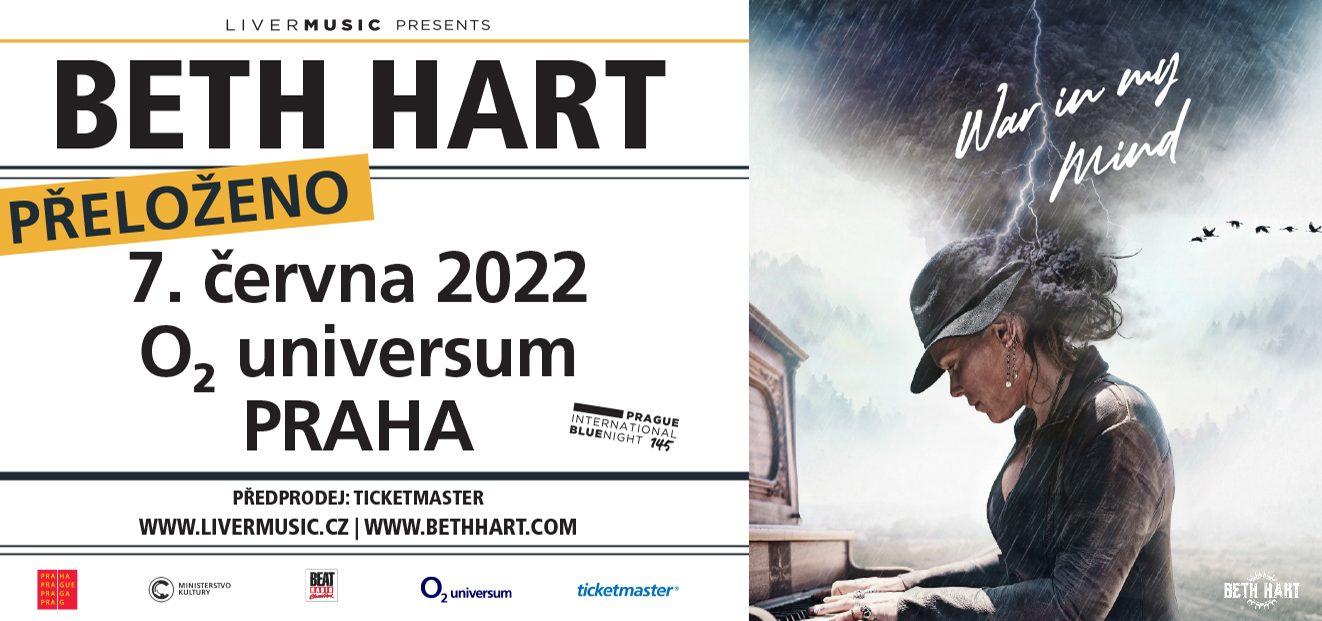 Koncert Beth Hart se přesouvá na nový termín 7.6.2022