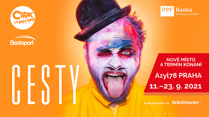 The show of the Cirk La Putyka moves to September at the new circus tent Azyl78 at Exhibition Park in Prague's Holešovice