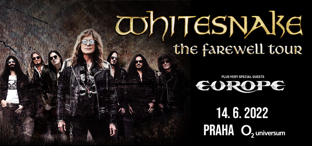 One of the WHITESNAKE THE FAREWELL TOUR stops will be the O2 Universum in Prague. The concert will take place on June 14, 2022