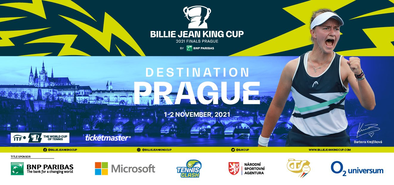 The biggest tennis event Billie Jean King Cup by BNP Paribas on the first November week in Prague
